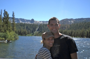 Because I know you all want to see pictures of us... this one is outside Mammoth.