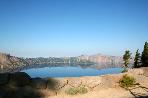 The stunning blue of Crater Lake