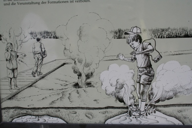 Apparently this is supposed to deter people from walking on geysers