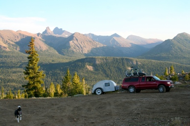 Not a bad view from our free campsite outside Yellowstone