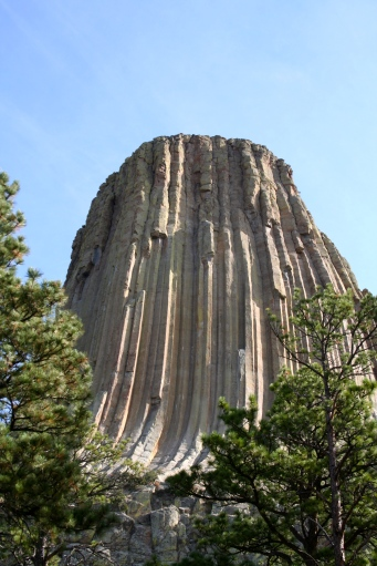 Devil's Tower is a huge draw for rock climbers, but many Native Americans feel climbing here is disrespectful as this is a highly sacred place. I was happy just to sit and look at it for a while.