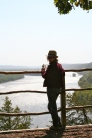 Admiring the view of the Mississippi and searching for Bald Eagles at Effigy Mounds