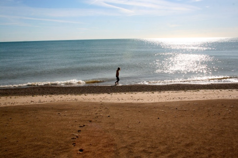 They call them The Great Lakes for good reason. From the shoreline Lake Michigan looks like an ocean!