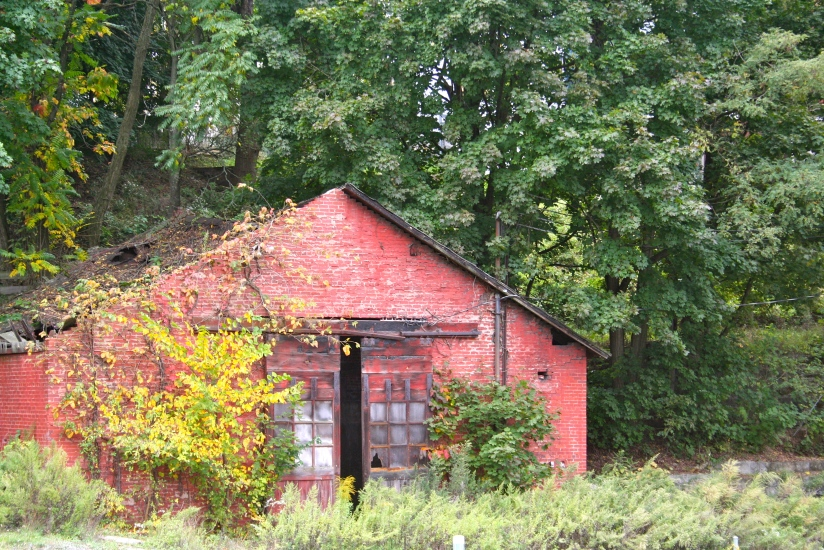 I spied this old building along the walking path. Beautiful, don't you think?