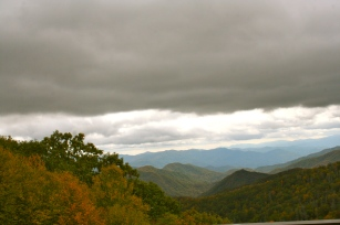 They call them The Great Smokies because there are always clouds due to the density of plant life which is constantly releasing moisture into the air