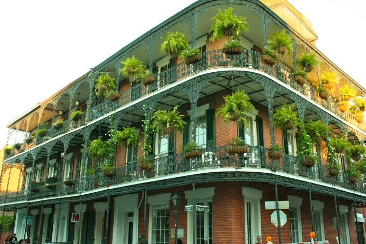 More hanging plants and lovely architecture. I didn't take very many pictures in New Orleans because Andrew gets embarrassed when I pull out the camera in crowded areas.