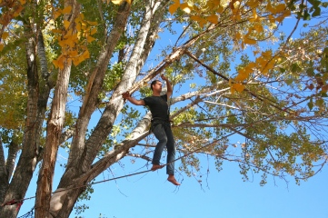 Andrew rocks at slacklining. This was no big thing for him!