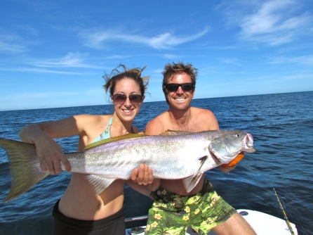 One of the mighty yellowtail that Katie and Danny reeled in