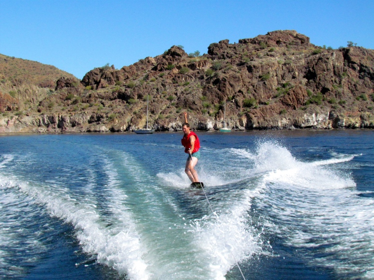 Of course, Andrew was a natural on the wakeboard