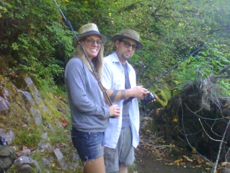 We went fishing with my brother in Oregon. I liked it so much, Andrew bought me my own pole for Christmas!