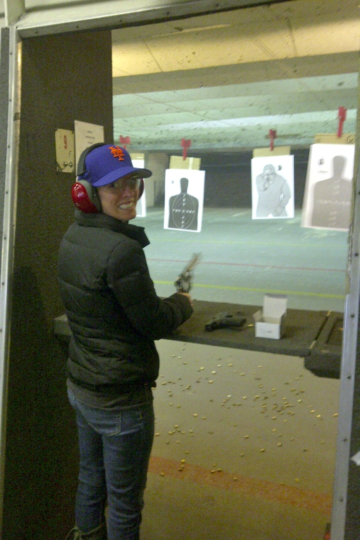 I realize posting a photo of me with a gun has potential implications. I do not own any guns. I do not know where I stand exactly on the gun control issues at hand. What I do know is that I enjoy shooting them for sport, and I'm a pretty darn good shot!
