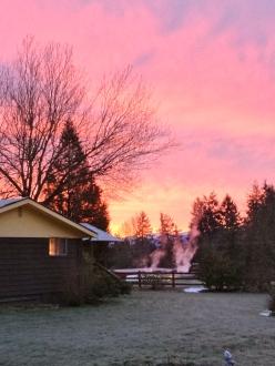 A beautiful crimson sunrise
