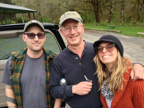 Andrew and I headed down to Eugene, OR to spend a weekend with my family. Here I am with my dad and brother. Family resemblance?