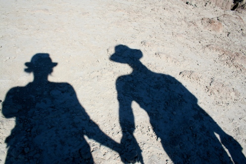 Shadows in Badlands National Park