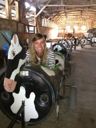 Bob's Corn has an amazing cow train that he let us ride. I am not afraid to admit I had SO MUCH FUN on that stupid thing!