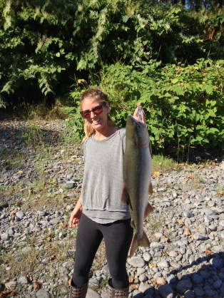 I caught a salmon (with help from Andrew of course!)