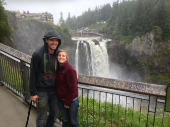 We went to visit Snoqualmie Falls, which is an amazing sight, just off the side of the road! No hike required.