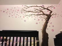 I painted this mural for my future neice Evelyn. And by future I mean any second now!