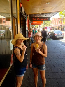 Twins eating icy poles in the 105 degree Perth weather