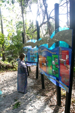 Signs around Fraser Island (K'Gari) teach about the native Butchulla people