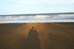 On the beach in Yepoon
