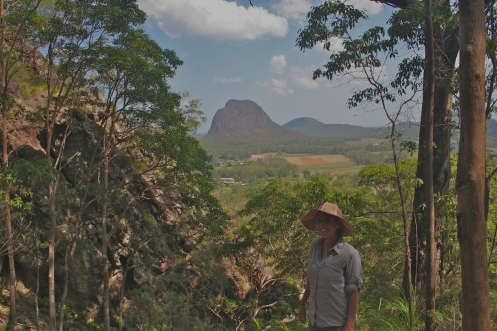 A view of the Glasshouse Mountains from our hike.