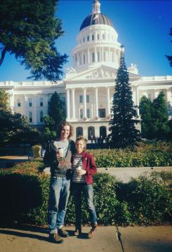 At the state Capitol in Sacramento