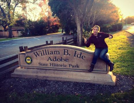 A tiny little park on the route to Sacramento. My husband's family has a famous relative!