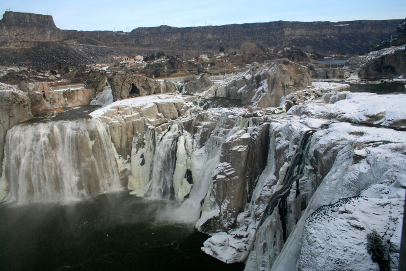 Shoshone Falls, in Twin Falls, Idaho. These beautiful falls are sometimes referred to as the Niagra Falls of the west.