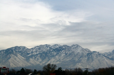 One of gorgeous mountain ranges that surround SLC