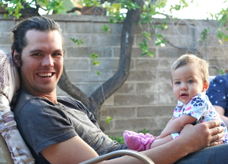 Uncle Andrew and little Juniper