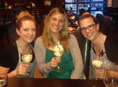 Dessert for my birthday dinner was French 77 floats with lemon sorbet. I love these girls!