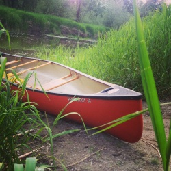 We saved our birthday and anniversary money (thanks everyone!) to buy this awesome canoe.