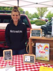 Farmer's Markets...a big part of our summer. We got new shirts!