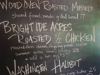 We were so excited to have our chickens served at a restaurant earlier this season!