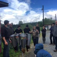 Our second annual chicken slaughter class!